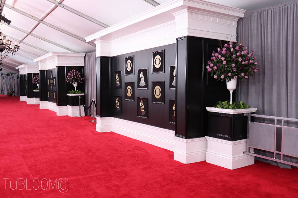 grammys red carpet floral by tu bloom