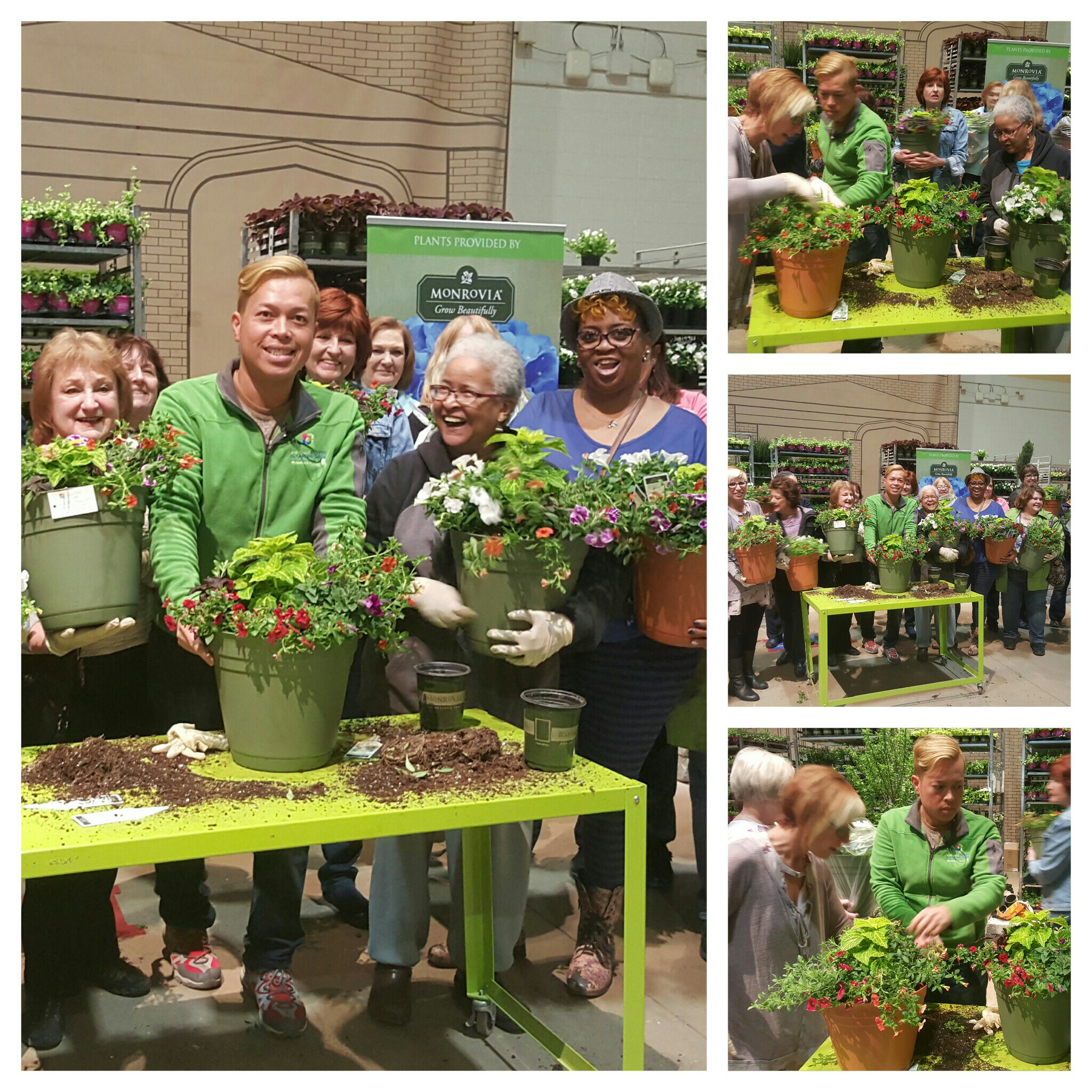 potting party with tu bloom