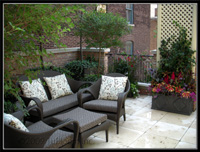 exterior landscape rooftop garden design services by tu bloom designs inc.