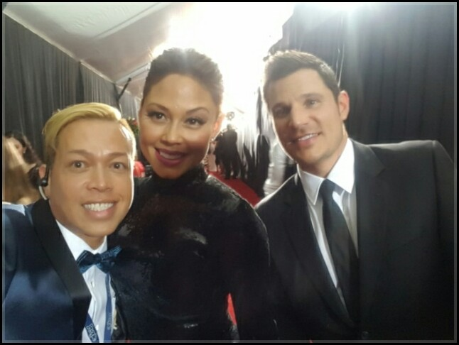 Tu Bloom Nick Lachey GRAMMYS Red Carpet Floral
