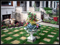 contemporary english grid garden design