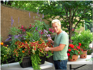 wgn news segment still shot featuring container garden upkeep